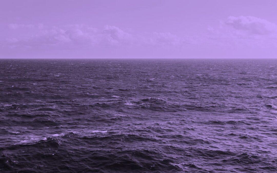 Der findes ikke blå oceaner. Kun et lilla verdenshav!